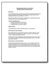 Dermatology Section (June 2002) Sample P... by Department of Health and Human Services