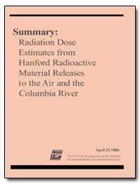 Summary : Radiation Dose Estimates from ... by Department of Health and Human Services