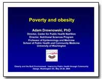 Poverty and Obesity by Drewnowski, Adam, Ph. D.