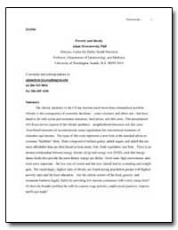 Poverty and Obesity by Drewnowski, Adam, Ph. D.