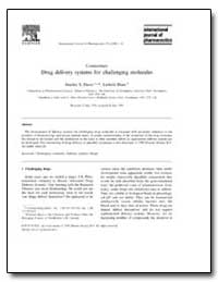 Drug Delivery Systems for Challenging Mo... by Davis, Stanley S.
