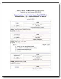 National Health and Nutrition Examinatio... by Department of Health and Human Services