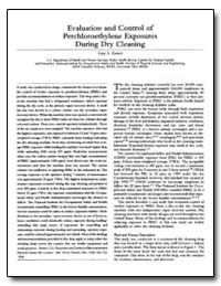 Evalution and Control of Perchloroethyle... by Eamest, Gary S.