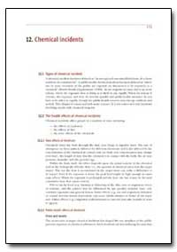 Chemical Incidents by Department of Health and Human Services