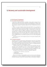 Recovery and Sustainable Development by Department of Health and Human Services