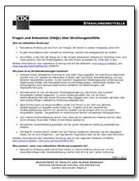 Fragen und Antworten (Faqs) Uber Strahlu... by Department of Health and Human Services