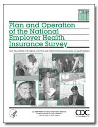Plan and Operation of the National Emplo... by Sondik, Edward J., Ph. D.