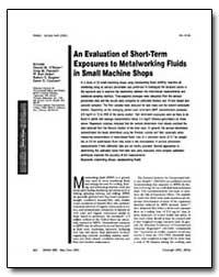 An Evaluation of Shortmterm Exposures to... by Obrima, Dennis M.