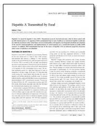 Hepatitis a Transmitted by Food by Fiore, Anthony E.