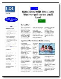 Recreational Water Illness (Rwi) : What ... by Department of Health and Human Services