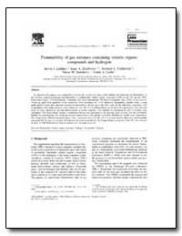 Flammability of Gas Mixtures Containing ... by Liekhus, Kevin J.