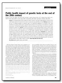 Public Health Impact of Genetic Tests at... by Yoon, Paula W., Sc. D., M. P. H.