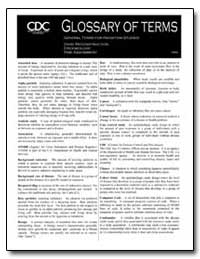 Glossary of Terms : General Terms for Ra... by Department of Health and Human Services