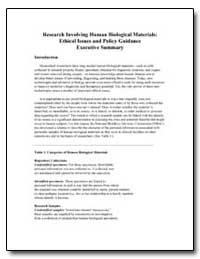 Research Involving Human Biological Mate... by Department of Health and Human Services
