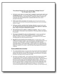 Recombinant Hepatitis B Vaccine and the ... by Department of Health and Human Services