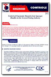 Niosh Hazard Controls : Control of Ergon... by Department of Health and Human Services
