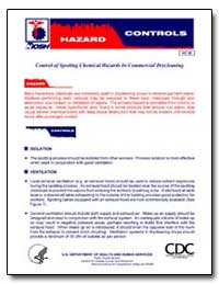 Control of Spotting Chemical Hazards in ... by Department of Health and Human Services