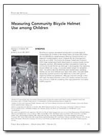 Measuring Community Bicycle Helmet Use A... by Schieber, Richard A.