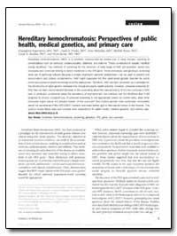 Hereditary Hemochromatosis : Perspective... by Imperatore, Giuseppina