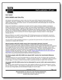 Fact Sheet Hiv/Aids and the Flu by Department of Health and Human Services