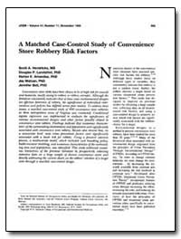 A Matched Case-Control Study of Convenie... by Hendricks, Scott A.