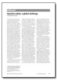 Injection Safety : A Global Challenge by Hutin, Y. J. F.