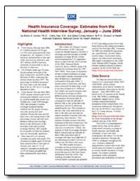 Health Insurance Coverage : Estimates fr... by Cohen, Robin A.
