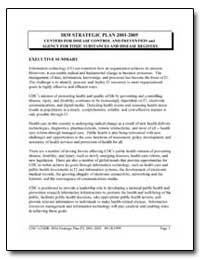 Irm Strategic Plan 2001-2005 Centers for... by Department of Health and Human Services