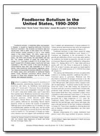Foodborne Botulism in the United States,... by Sobel, Jeremy