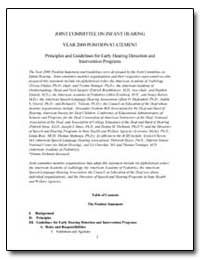 Joint Committee on Infant Hearing Year 2... by Department of Health and Human Services