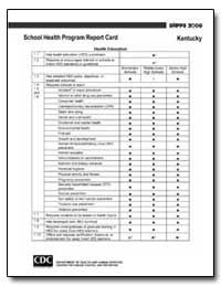 Kentucky School Health Program Report Ca... by Department of Health and Human Services