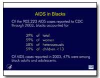 Aids in Blacks by Department of Health and Human Services