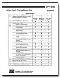 Louisiana School Health Program Report C... by Department of Health and Human Services