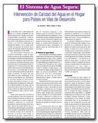Intervencion de Calidad Del Agua en El H... by Department of Health and Human Services