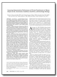 Assessing Immunization Performance of Pr... by Massoudi, Mehran S., Ph. D.