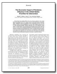 The Economic Impact of Pandemic Influenz... by Meltzer, Martin I.