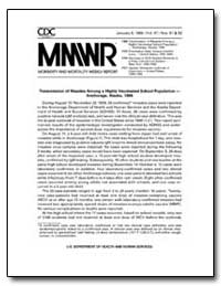 Transmission of Measles Among a Highly V... by Department of Health and Human Services