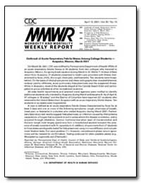 Outbreak of Acute Respiratory Febrile Il... by Department of Health and Human Services