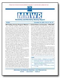 Hiv Testing Among Pregnant Women — Unite... by Gerberding, Julie Louise, M. D., M. P. H.