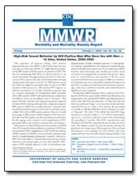High-Risk Sexual Behavior by Hiv-Positiv... by Gerberding, Julie Louise, M. D., M. P. H.