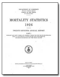 Mortality Statistics 1926 by Steuart, W. M.