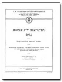Mortality Statistics : 1933 by Murphy, Trudy
