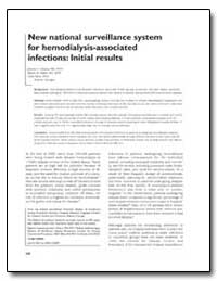New National Surveillance System for Hem... by Tokars, Jerome I., M. D., M. P. H.
