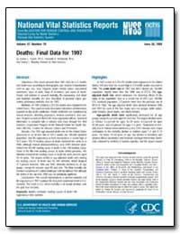 Deaths : Final Data for 1997 by Hoyert, Donna L., Ph. D.