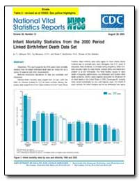 Infant Mortality Statistics from the 200... by Mathews, T. J., M. S