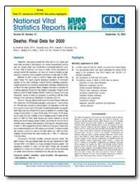 Deaths : Final Data for 2000 by Minino, Arialdi M., M. P. H.