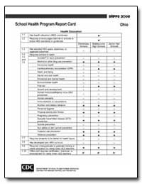 Ohioschool Health Program Report Card by Department of Health and Human Services