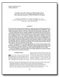 Cardiovascular Disease Risk Reduction : ... by Stoddard, Anne M., Sc. D.