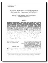 Expanding the Evidence for Health Promot... by Farris, Rosanne P., Ph. D.