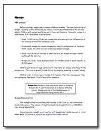 Mumps the Disease by Department of Health and Human Services